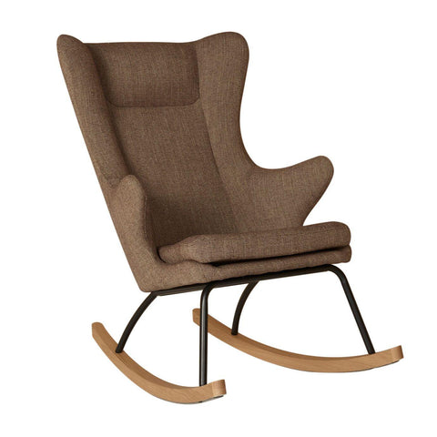 Image of Quax Rocking Chair adult Chaise à bascule Deluxe - Latte
