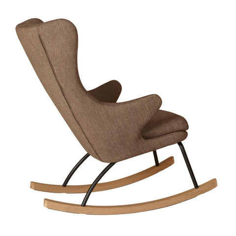Image of Quax Rocking Chair adult Chaise à bascule Deluxe - Latte Quax- Coco & Minou