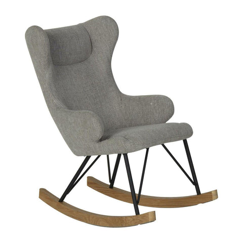 Image of Quax Chaise A Bascule pour enfant Rocking Chair de Luxe Sand Grey Quax- Coco & Minou