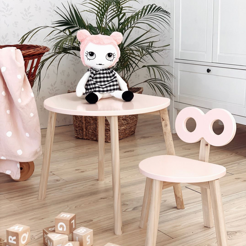 Ooh Noo Table demi-lune en bois - Blush ooh noo- Coco & Minou