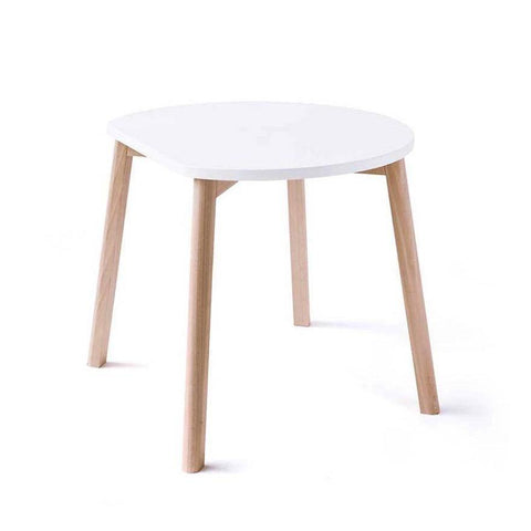 Image of Ooh Noo Table demi-lune en bois - Blanc ooh noo- Coco & Minou