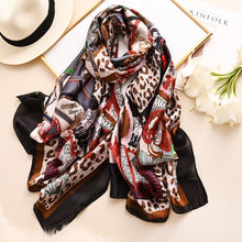 Load image into Gallery viewer, Printed Silk Hijab Scarves