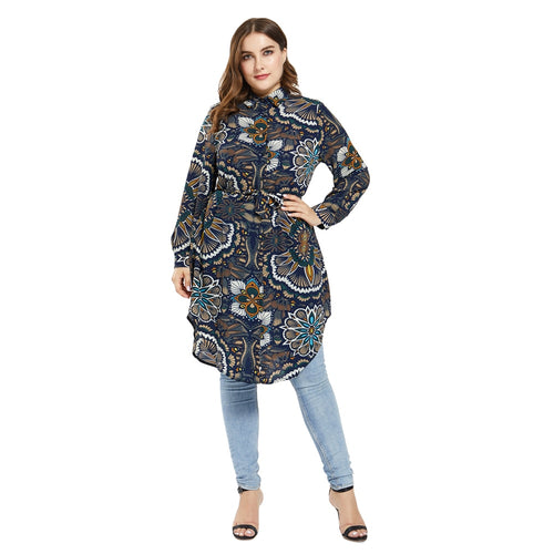 Women's Muslim Print Long Sleeve Top
