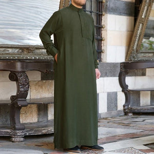 Men's Muslim Long Sleeve Formal Thobe