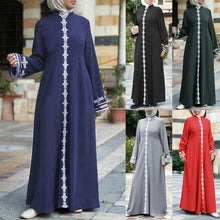 Load image into Gallery viewer, Women's Lace-down Abaya