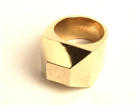 Large Facet Ring