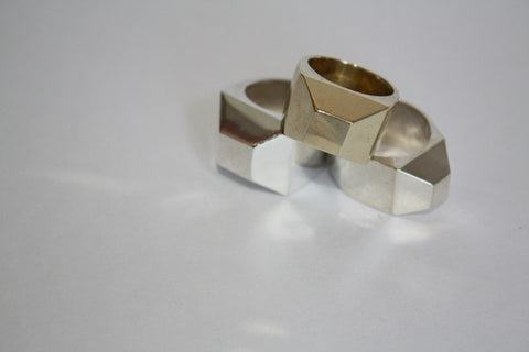 Medium Facet Ring
