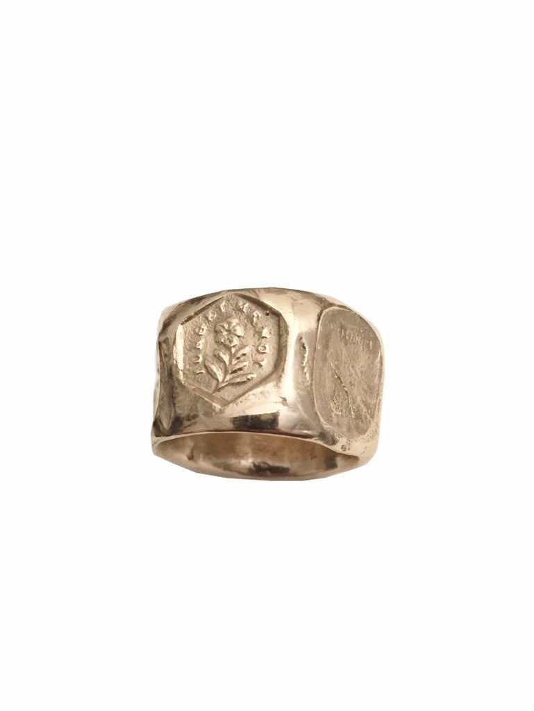 Intaglio Facet Ring