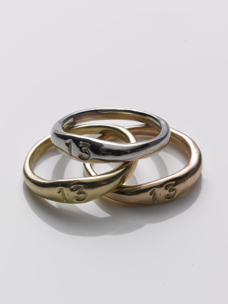Small 13 Stacking Rings