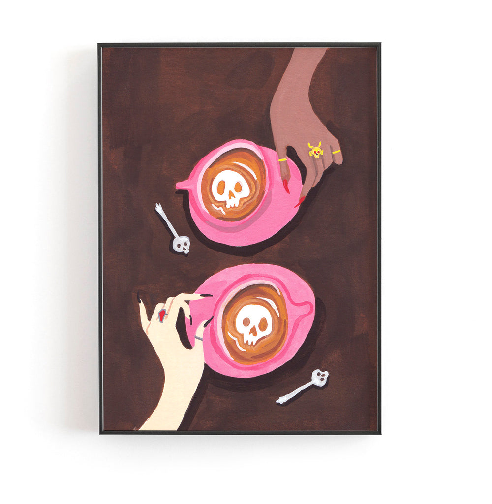Coffee Witches Art Print