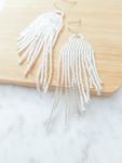 Medusa Jellyfish Tassel Earrings | Silver