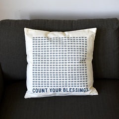 Count Your Blessing Throw Pillow