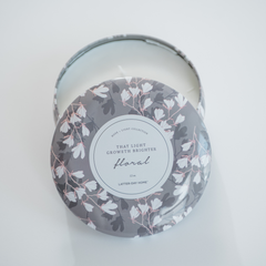 Large Floral Scented Candle