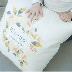 Haley Smith - Pillow - Custom Blush Floral
