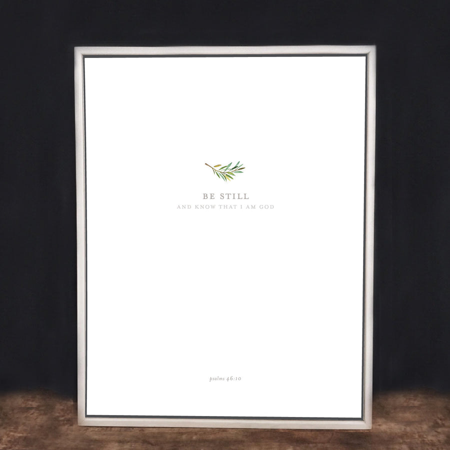 Modern White Wash Frame