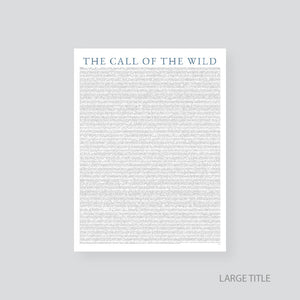 Books As Art - The Call of the Wild