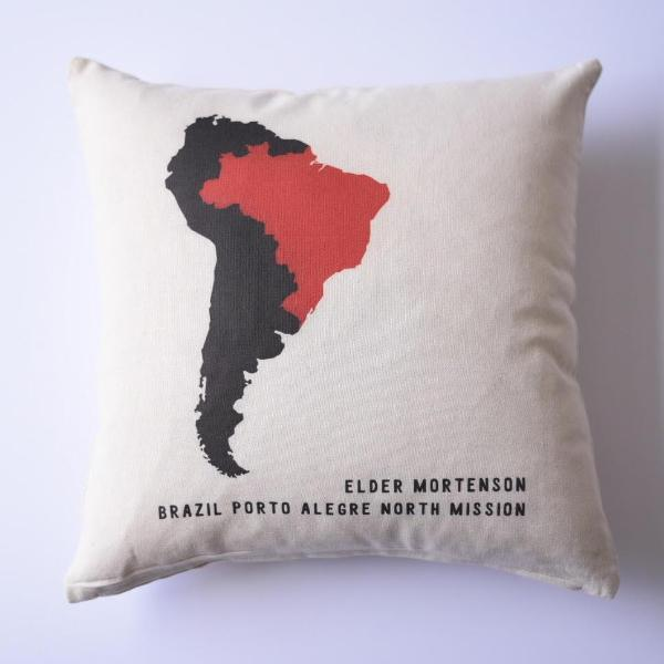 Pillow - Personalized - Missionary - Country Map