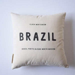 Pillow - Personalized - Missionary - Country Name