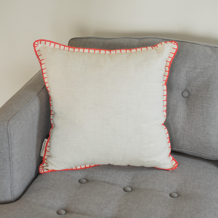 Pillow - Red Stitch