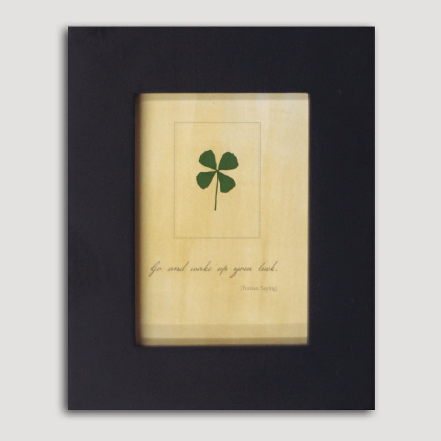 Framed Four-Leaf Clover