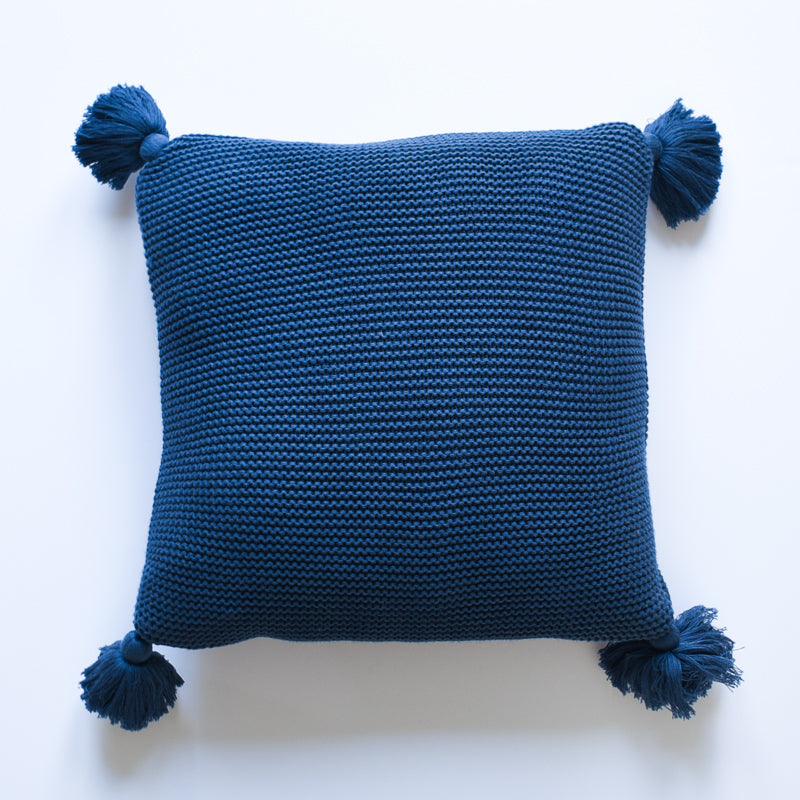 Pillow - Navy Tassels