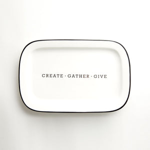 Ceramic Platter - Create Gather Give