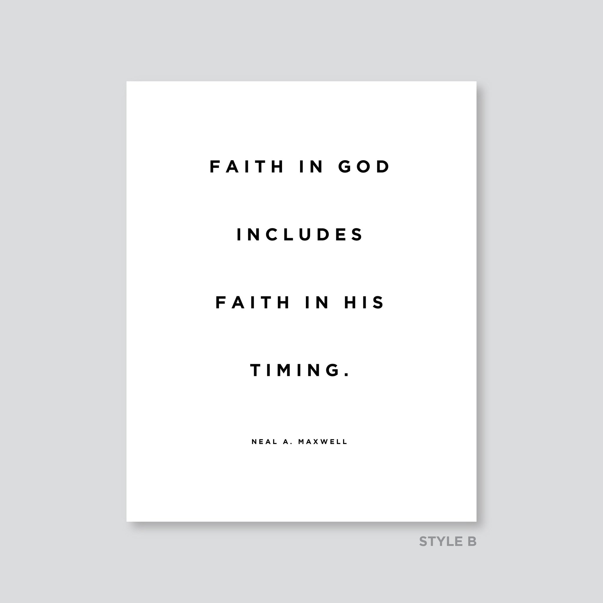 Quotes About Timing Quote   Art   Faith In His Timing | Latter Day Home Quotes About Timing