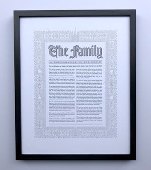 Letterpress Art - Proclamation on the Family by Peder Singleton
