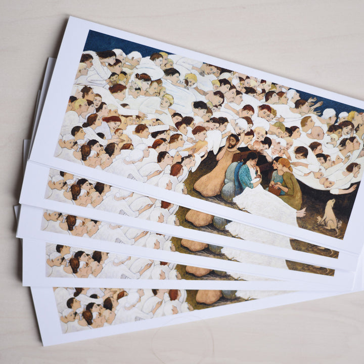 Brian Kershisnik - Nativity - Greeting Cards - Set of Five