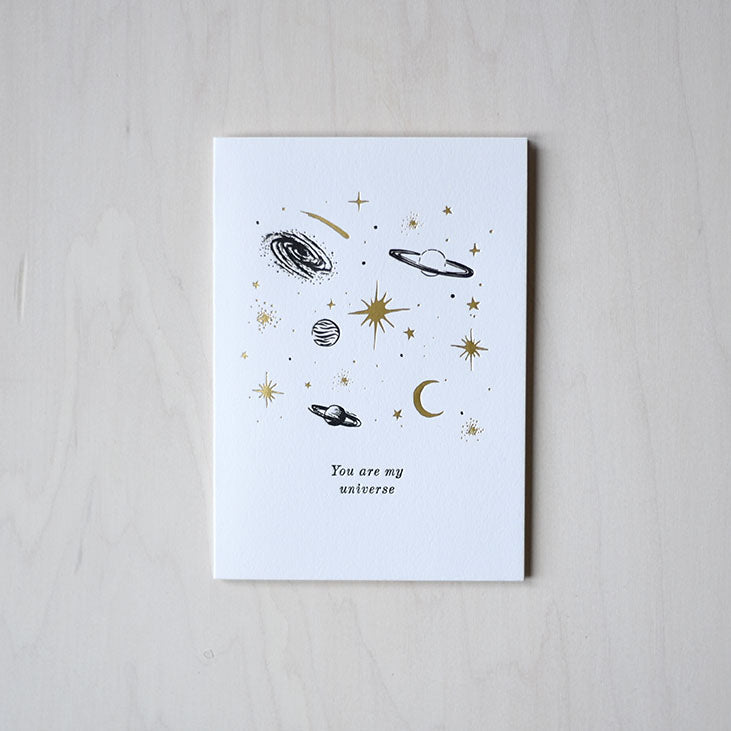Greeting Card - You Are My Universe