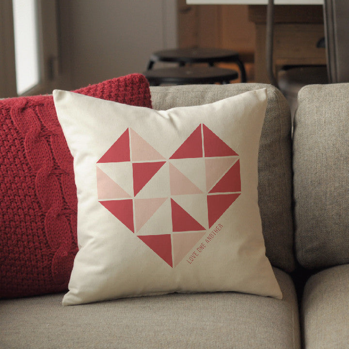 Pillow - Love One Another - Geometric Heart