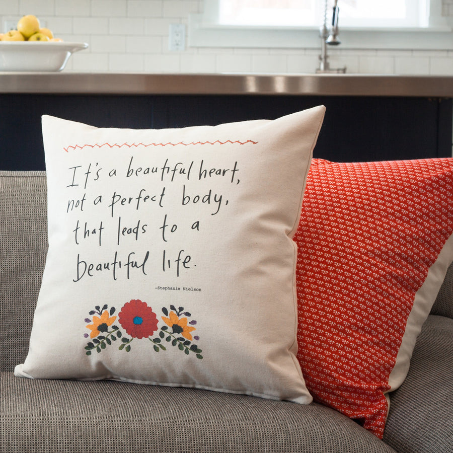 Pillow - Beautiful Heart - Stephanie Nielson