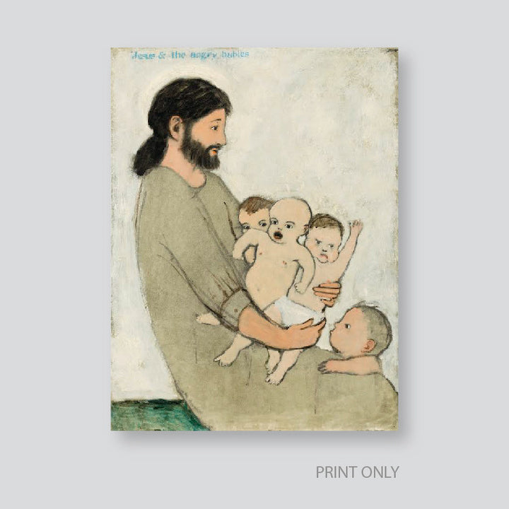"B. Kershisnik - ""Jesus and the Angry Babies"" - Limited Edition"
