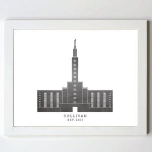 Temple Print - Los Angeles, CA