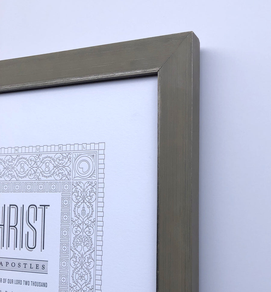 Letterpress Art - Articles of Faith by Peder Singleton