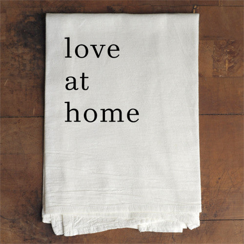 Tea Towel - Love At Home - Amanda Jane Jones