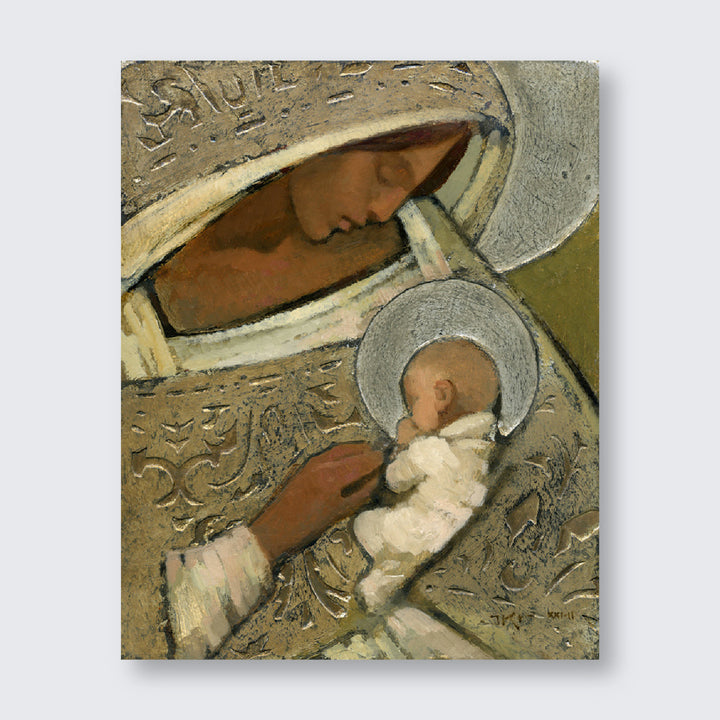 J. Kirk Richards - Art - Mother and Child (Silver)