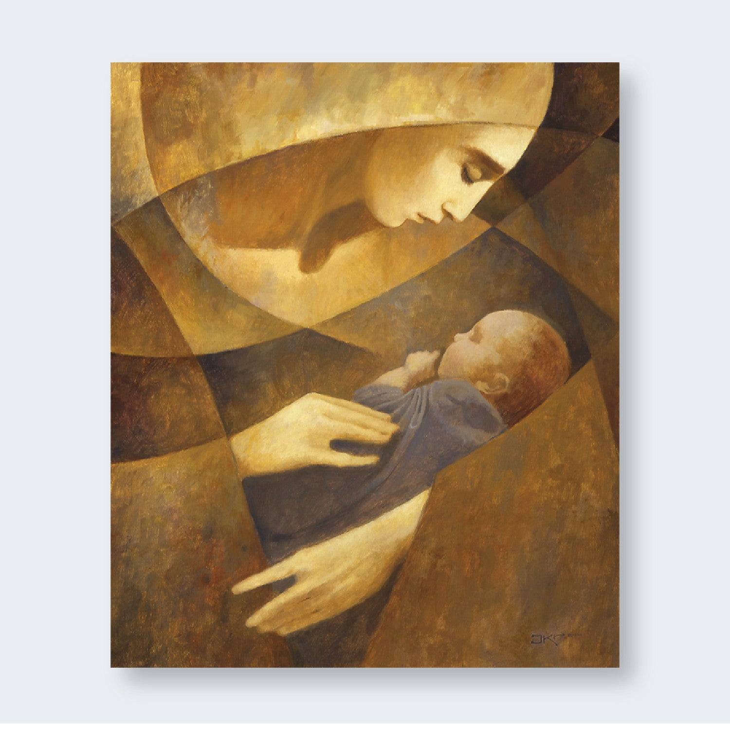 J Kirk Richards Art Mother And Child Yellow Latter Day Home