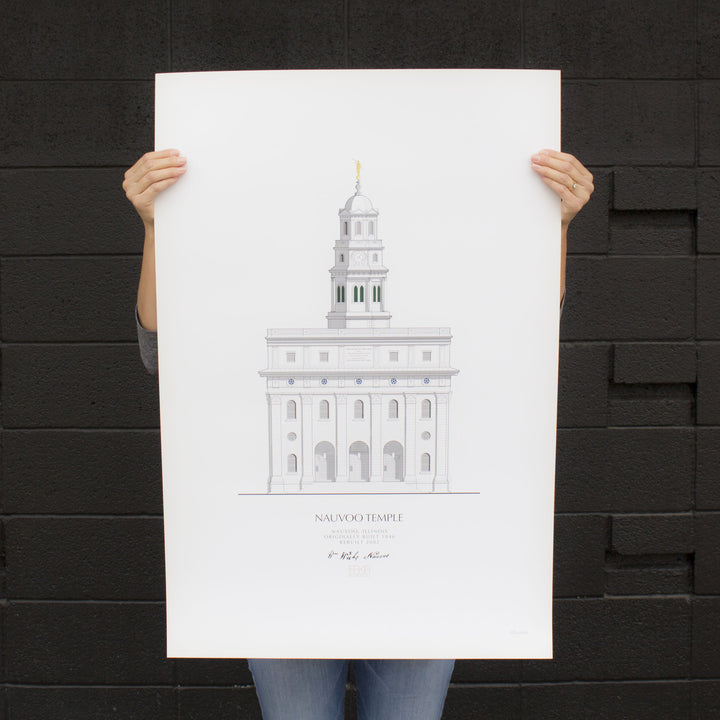 Nauvoo Temple Architectural Elevation