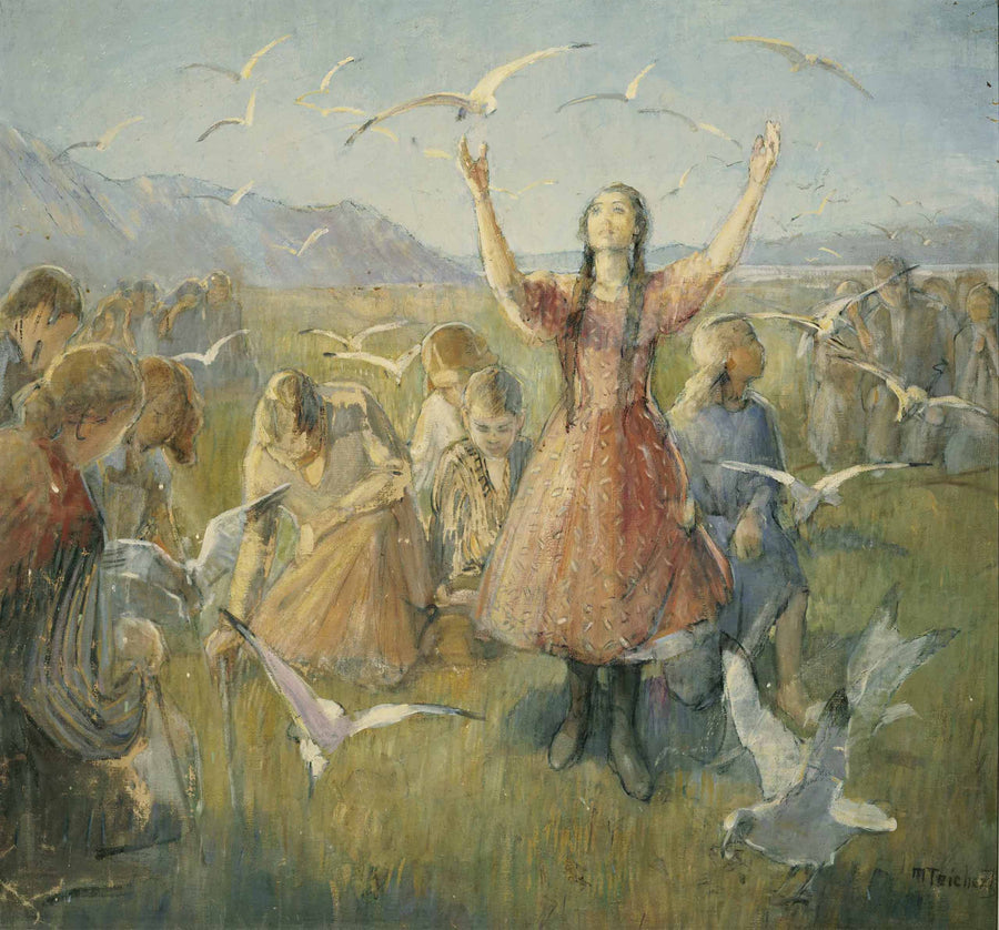 Minerva Teichert - Betty and the Seagulls