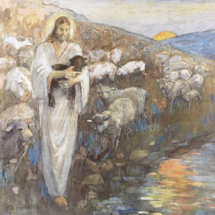 Minerva Teichert - Rescue of the Lost Lamb