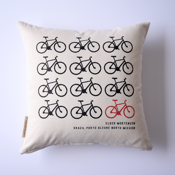 Pillow - Personalized - Missionary - Bicycles