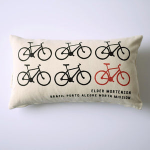 Pillow (Lumbar) - Personalized - Missionary - Bicycles