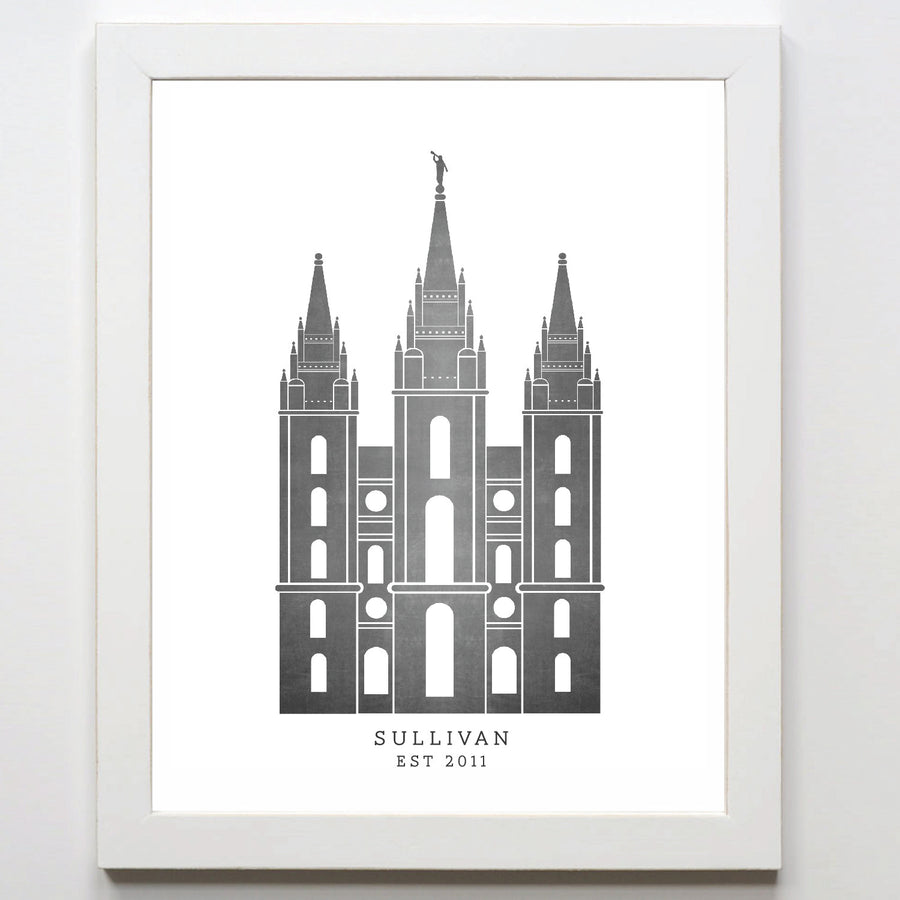 Temple Print - Salt Lake City
