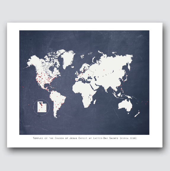 Map Of Arizona Lds Temples.Wall Decor Latter Day Home