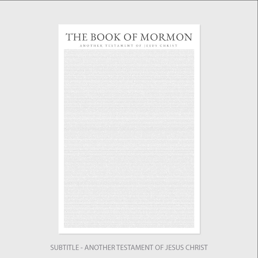 Books As Art - Book of Mormon - Print Only