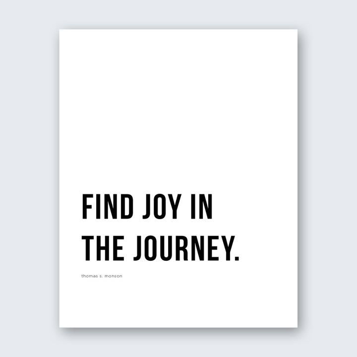 Quote - Joy in the Journey
