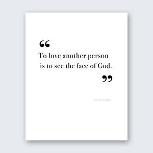 Quote - To See the Face of God