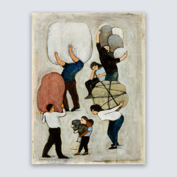 "B. Kershisnik - ""Everyone is Carrying Stuff"" - Limited Edition"