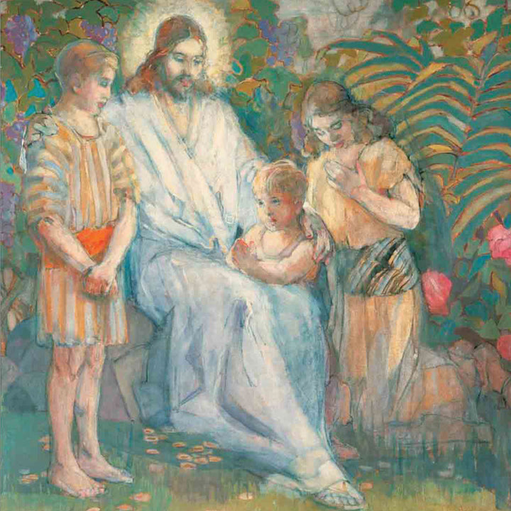 Minerva Teichert - Christ and the Children